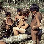 Waorani Indians : Children with James Yost, rio Cononaco, Ecuador, 1983