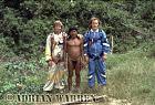 Waorani Indians : Adrian Warren, Caempaede and grant Behrman, rio Cononaco, Ecuador, 1983
