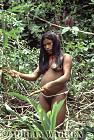 Waorani Indians, gathering food and firewood, rio Cononaco, Ecuador, 1983