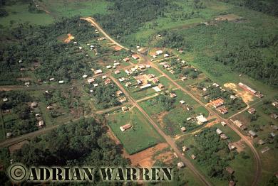 Waorani Indians, Oil company settlement, Waorani territory, Ecuador, 1993