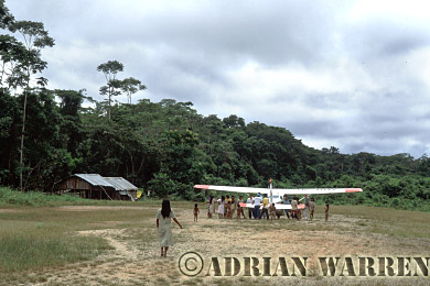 Waorani Indians, Settlement at Cononaco airstrip, Ecuador, 1993