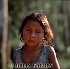 Waorani Indian girl : rio Cononaco, Ecuador, 2002