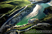 Aerial photos of : China Clay Quarry, St. Austell, Cornwall, England, UK