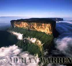 aerial image of Roraima in cloud, Venezuela