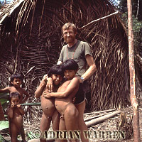 Jim Yost with Waorani Children, 1983