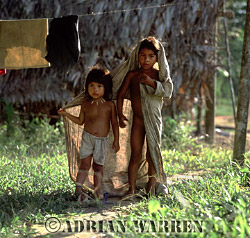 Waorani Indians, children